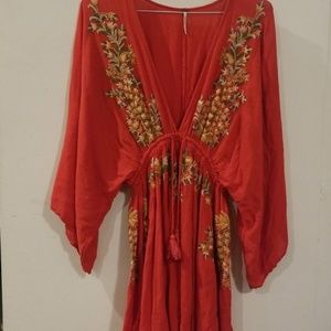 Free People embroid dress size S